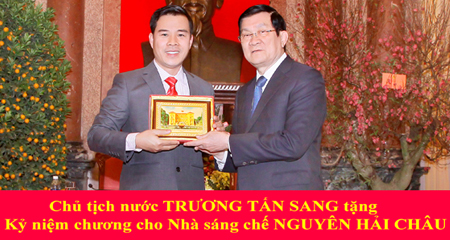 Và đặc biệt hơn nữa là được Chủ tịch nước Trương Tấn Sang trao tặng bằng khen.