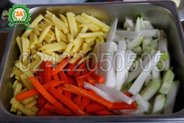 Thành phẩm thu được của Máy thái khoai tây vuông 3A
