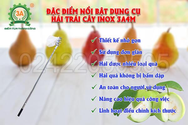 Ưu điểm của Dụng cụ hái trái cây inox 3A4M