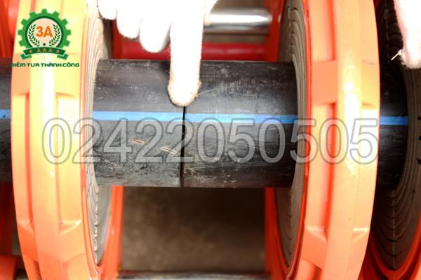 Hàn 2 ống nhựa bằng Máy hàn ống nhựa 3A HTX250