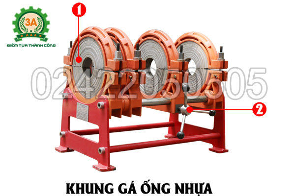 Khung gá ống nhựa của Máy hàn ống nhựa 3A HTX250