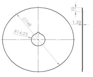 Phụ kiện máy cắt cá 3A2,2Kw: Dao tròn