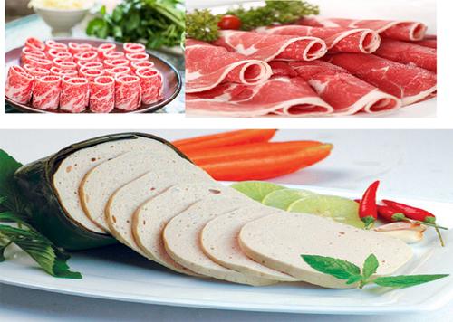 Sản phẩm thái bởi Máy thái thịt đông lạnh 3A
