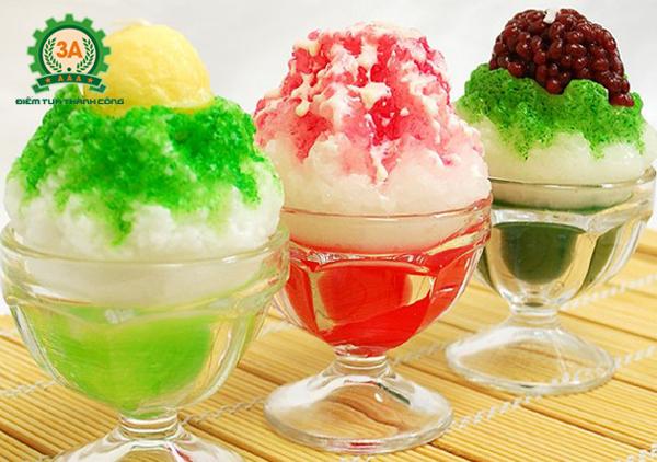 Máy bào đá tuyết 3A giúp bạn có được những ly kem tuyết, đá bào hấp dẫn