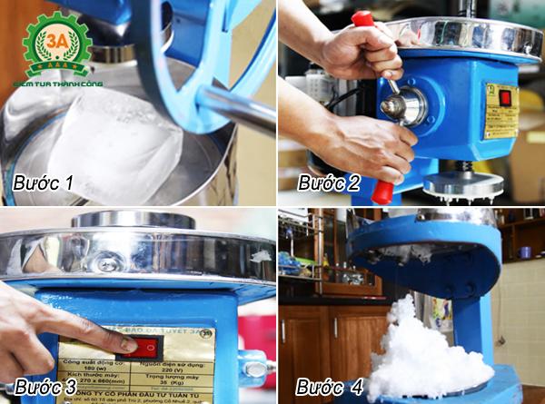 Cách sử dụng Máy bào đá tuyết 3A