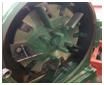 Linh kiện máy xay nghiền ngô, vỏ trấu, mùn cưa:  Vị trí sàng và khung sàng