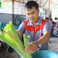 anh Nguyễn Hải Châu với máy băm nghiền đa năng năng