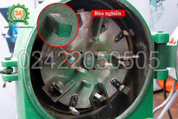 Bên trong buồng nghiền của máy nghiền cám, mùn cưa 3A7,5Kw