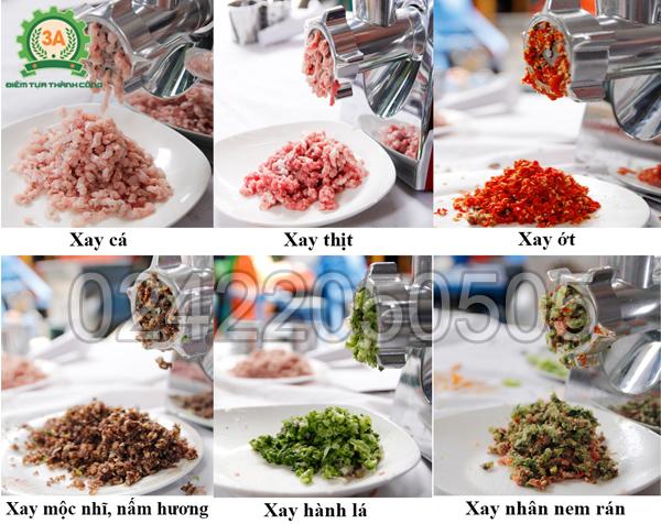 Máy xay thịt, nạo rau củ 3A400W xay nghiền đa dạng nguyên liệu