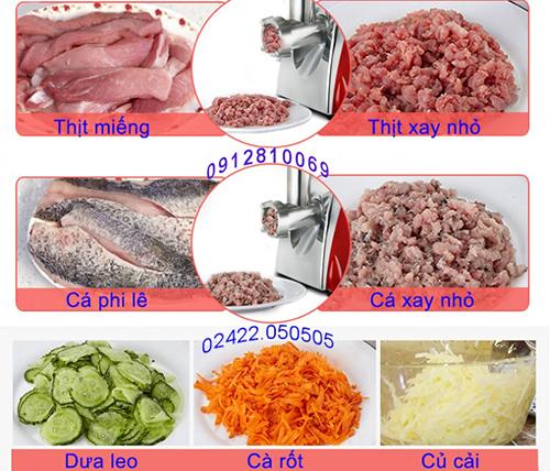 Máy xay thịt, nạo rau củ 3A400W có thể xay nhỏ các loại thịt, cá, rau củ...