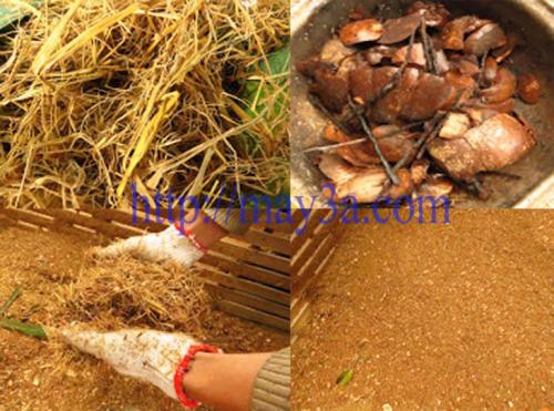 Máy băm rơm, xơ dừa, cỏ voi 3A ống tròn băm nhỏ các nguyên liệu khô như: Xơ dừa, bã mía, vỏ cây, ván bóc, rơm rạ…