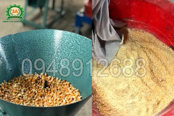 Tính năng nghiền bột khô của Máy chế biến thức ăn chăn nuôi 3A2,2Kw (kiểu phễu tròn)