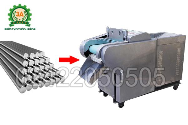 Máy cắt rau củ đa năng 3A2,2Kw có băng tải có chất liệu chính là inox cao cấp