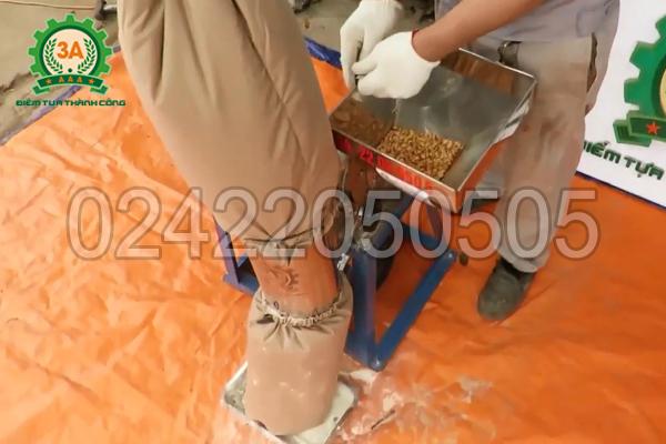 Nghiền ngô hạt bằng máy nghiền bột 3A3Kw