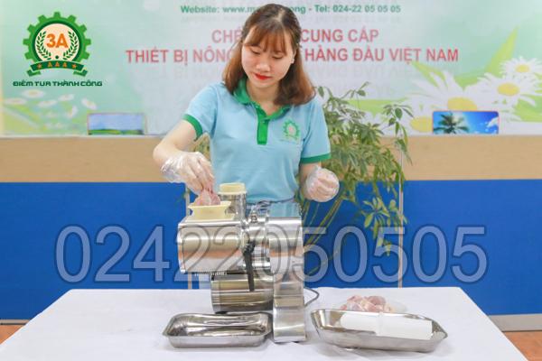 cách làm bún chả Hà Nội với máy xay thịt, thái thịt đa năng 3A