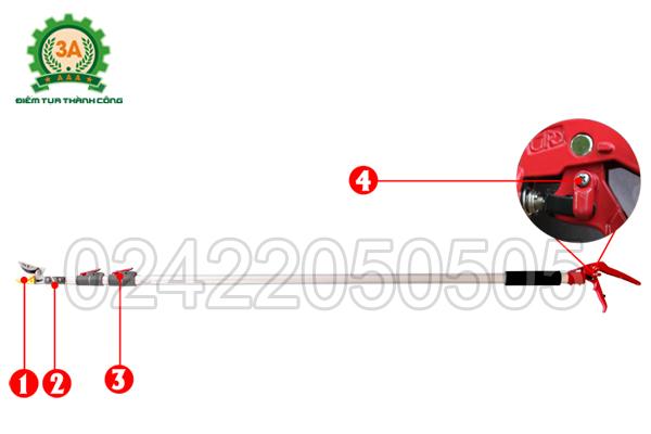 Cấu tạo của Kéo cắt cành trên cao 3A3M