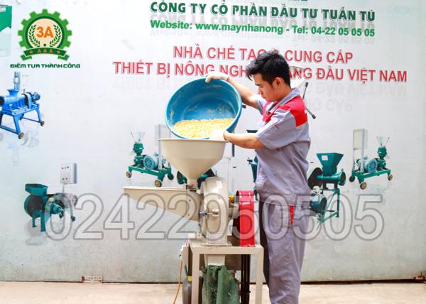 Kỹ thuật viên sử dụng Máy xay bột khô 3A2,2Kw