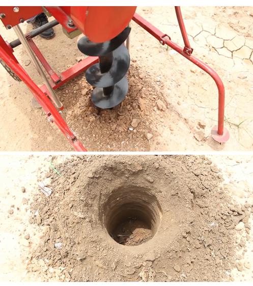 Lỗ khoan được khoan bởi Máy khoan đất 3A7,5HP