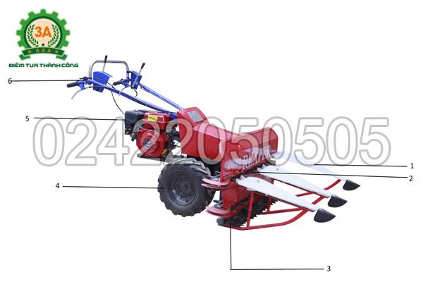 Cấu tạo của máy cắt cỏ voi 3A5,5HP