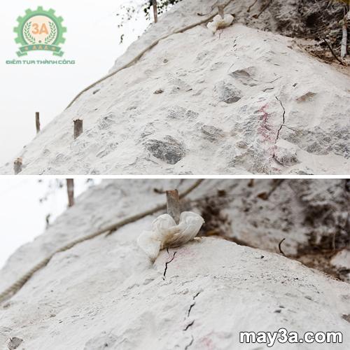 Vết nứt tách đá khi sử dụng bột nở tách đá