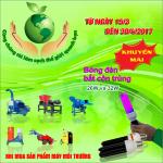 Thông báo chương trình khuyến mãi sản phẩm máy môi trường