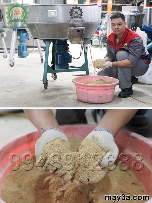 Sản phẩm đầu ra được trộn đều bằng Máy trộn thức ăn cho gà 1 pha 3A3Kw