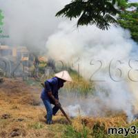 Một số kỹ thuật xử lý rơm rạ: Người dân đốt rơm rạ sau thu hoạch