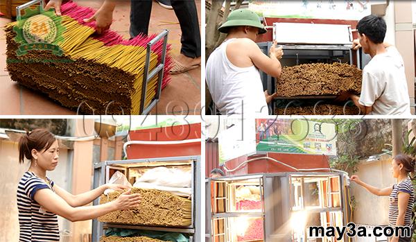 Máy sấy hương nhang 3A phù hợp sử dụng tại hộ gia đình hoặc cơ sở sản xuất hương