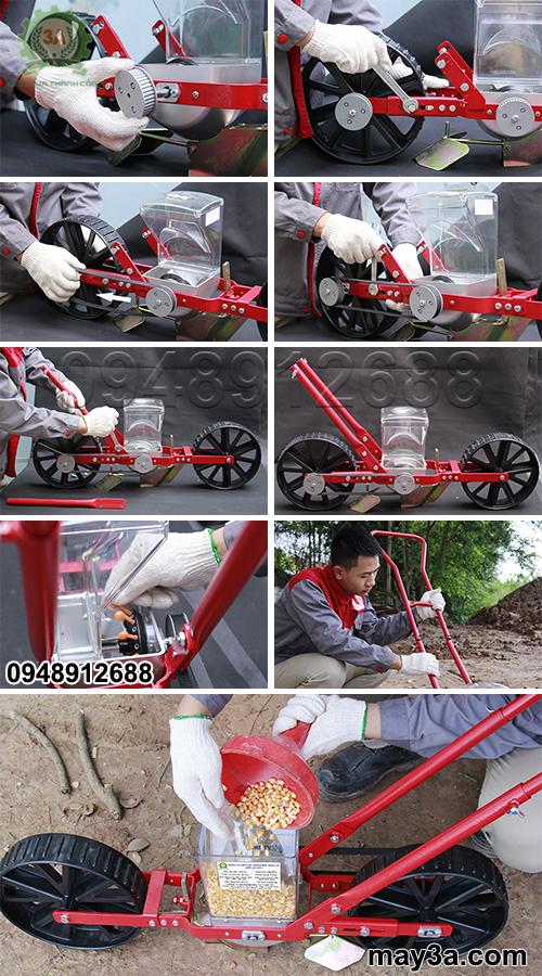 Lắp đặt Dụng cụ gieo hạt giống một hàng 3A (kiểu xe đẩy)