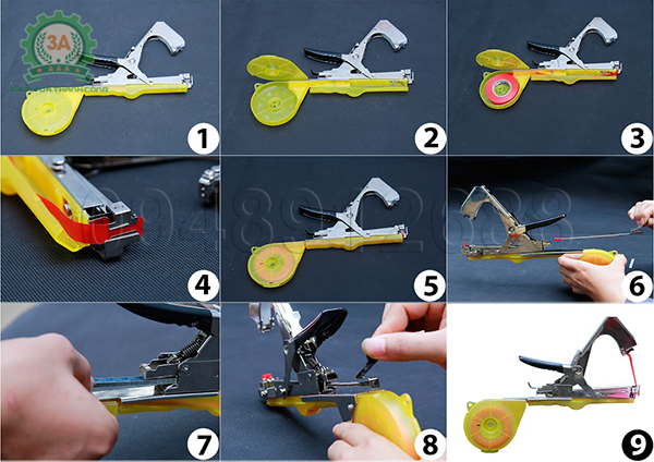 Các bước lắp ráp Bộ dụng cụ buộc cành cây tự động 3A