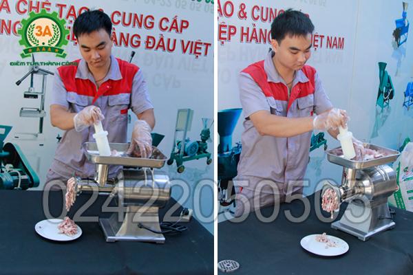 Máy xay thịt inox 3A1,3Kw sử dụng rất dễ dàng