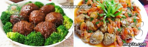 Món ăn được làm từ Máy xay thịt inox 3A GT2,2KW