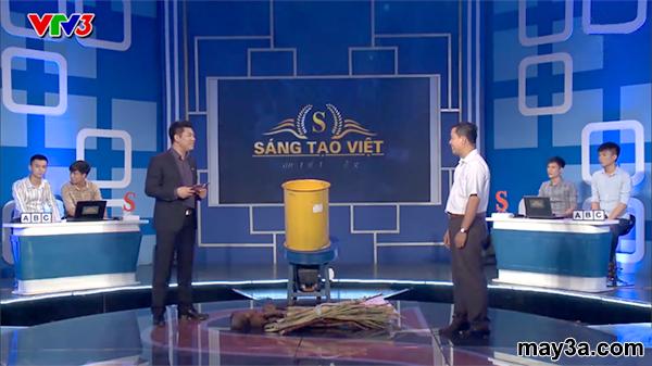 Sản phẩm Máy băm xơ dừa, rơm, bã mía 3A trong chương trình SÁNG TẠO VIỆT của đài VTV3