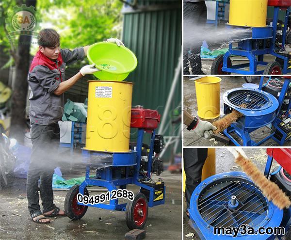 Vệ sinh Máy băm nghiền xơ dừa, rơm, bã mía kiểu ống tròn 3A16Hp sau khi sử dụng