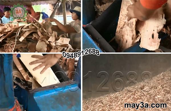 Máy băm ván bóc 3A15Kw được sử dụng phổ biến tại các cơ sở chế biến gỗ