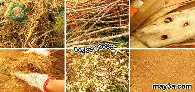 Rơm, thân cây sắn, gỗ bóc được băm nghiền bằng Máy băm ván bóc, vỏ dừa, gỗ tạp 3A22Kw