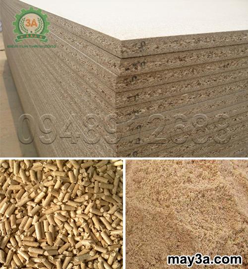 Máy băm ván bóc 3A11Kw: Dăm gỗ là nguyên liệu sản xuất ván gỗ ép, viên nén gỗ hay bột giấy