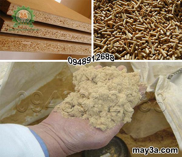 Máy băm ván bóc 3A15Kw: Dăm gỗ được dùng để sản xuất ván gỗ ép, bột giấy hay viên nén gỗ