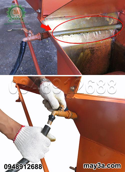 Ống dẫn nước thông minh của máy nghiền nghệ 3A3Kw giúp nguyên liệu thoát ra nhanh chóng