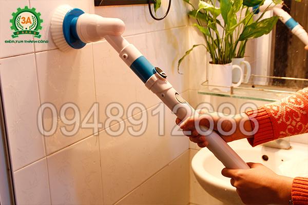 Chổi cọ rửa vệ sinh đa năng 3A dễ dàng cọ rửa tường lát gạch men trong nhà vệ sinh