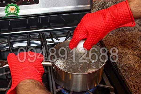 Găng tay cách nhiệt đa năng 3A tiện lợi cho công việc làm bếp