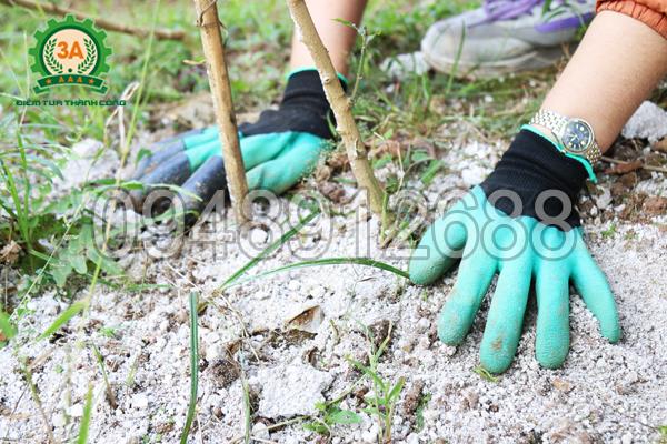 Đeo Găng tay làm vườn thông minh 3A đảm bảo an toàn khi tiếp xúc vôi, phân bón