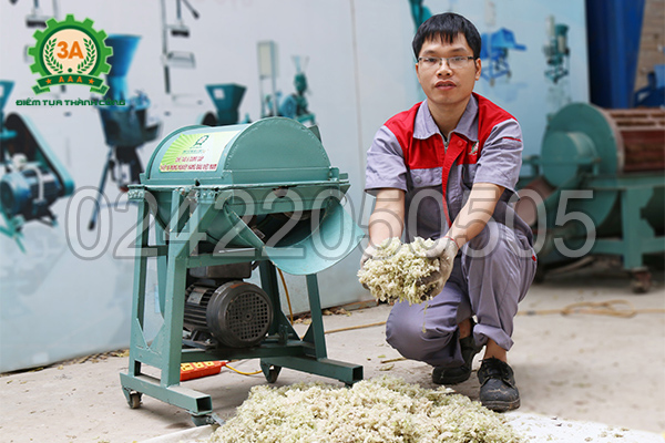 Sản phẩm đầu ra của máy băm cây chuối dạng hạt 3A1,5Kw