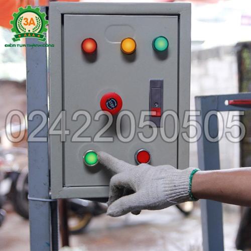 Tủ điện của Máy ép cám viên nổi 3A7,5Kw (bán tự động)
