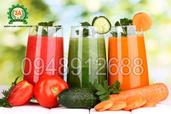 Những ly nước ép bằng máy ép trái cây 3A đảm bảo vệ sinh an toàn thực phẩm