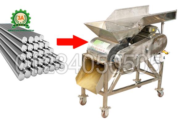Máy nghiền nghệ 3A3Kw được làm bằng chất liệu Inox an toàn