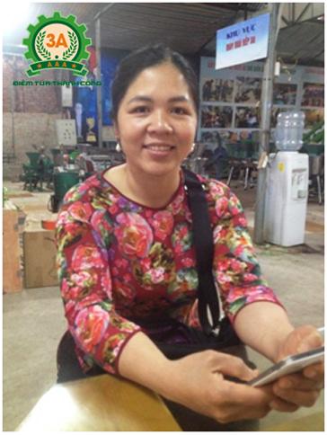 Bán máy thái lát gừng 3A1.5Kw cho chị Triệu Thị Lan ở Tuyên Quang