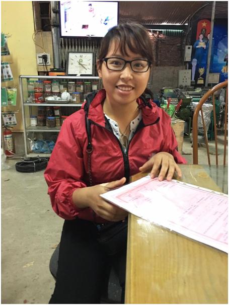 Cung cấp dụng cụ gieo hạt 2 hàng cho Chị Hạnh ở Phúc Thọ - Hà Nội