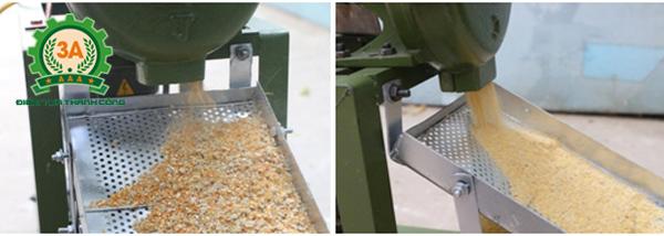 Máy đập ngô vỡ mảnh 3A2,2Kw có thể điều chỉnh mức độ vỡ mảnh của hạt ngô theo nhu cầu