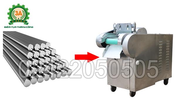 Vỏ Máy thái rau củ quả 3A1,5Kw (có băng tải) được làm bằng chất liệu inox cao cấp